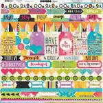 """Believe Combo Stickers 12""""X12"""" - Bo Bunny"""