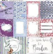 "Secret Garden Vellum Paper 12""X12"" - Bo Bunny"
