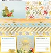 """Beach Therapy Vellum Paper 12""""X12"""" - Bo Bunny"""