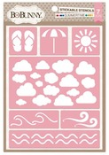 Summertime Stickable Stencils - Bo Bunny
