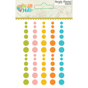 You Are Here Enamel Dots - Simple Stories