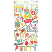 Lets Party Chipobard Stickers - Simple Stories