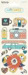 Happy Camper Alpha - Word Stickers - My Minds Eye