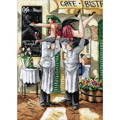 """12""""X16"""" 14 Count - Getting Ready Counted Cross Stitch Kit"""