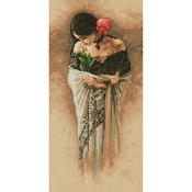 """7""""X14"""" 14 Count - The Rose Counted Cross Stitch Kit"""