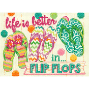 "7""X5"" 14 Count - Flip Flops Mini Counted Cross Stitch Kit"