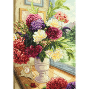 """11""""X14"""" 18 Count - Gold Collection Summer Bouquet Counted Cross Stitch Kit"""