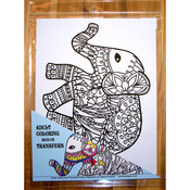 "9""X12"" - Elephant Coloring Transfer"