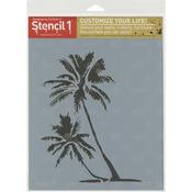 "Palm Trees - Stencil1 8.5""X11"" Stencil"
