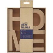 HOME - Papermania Bare Basics 10cm 3D Letters 4/Pkg