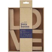 LOVE - Papermania Bare Basics 10cm 3D Letters 4/Pkg