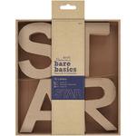 STAR - Papermania Bare Basics 10cm 3D Letters 4/Pkg