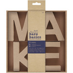 MAKE - Papermania Bare Basics 10cm 3D Letters 4/Pkg