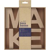 MAKE - Papermania Bare Basics 10cm 3D Letters 4/Pkg