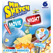 Chisel Movie Night - Mr.Sketch Scented Marker Set 6/Pkg