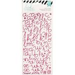 Puffy Alphabet/Pink Glitter - Heidi Swapp Specialty Stickers