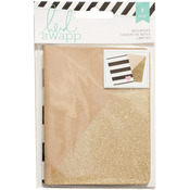 "Kraft/Gold - Heidi Swapp Notebooks 3.5""X5"" 2/Pkg"