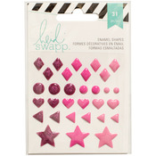 Pink Glitter - Heidi Swapp Enamel Shapes 32/Pkg