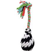 Small - Super Scooch Squeak Rope R Ball Dog Toy 9""