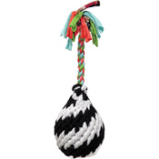 Large - Super Scooch Squeak Rope R Ball Dog Toy 11""