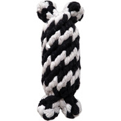 Small - Super Scooch Braided Rope Man With Squeaker Dog Toy 6.5""