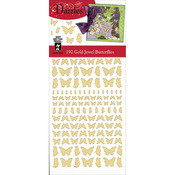Gold Jewel Butterflies - Dazzles Stickers