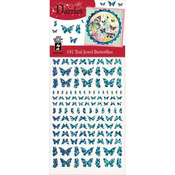 Teal Jewel Butterflies - Dazzles Stickers