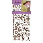 Bunnies - Mirror Brown - Dazzles Stickers