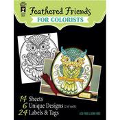"Birds & Owls - Hot Off The Press Coloring Book 5""X6"""