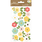 Spring Fling Puffy Flower Stickers - Pebbles