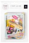 Cest La Vie Gold Foil Ephemera - Pink Paislee