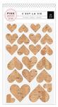 Cest La Vie Cork Glitter Heart Stickers - Pink Paislee