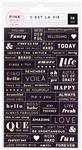 Cest La Vie Word Jumble Stickers - Pink Paislee