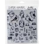 Mini Bird Crazy & Things Tim Holtz Cling Stamps