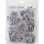Crazy Cats Tim Holtz Cling Stamps