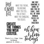 Ponderings Tim Holtz Cling Stamps