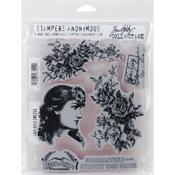 Lady Rose Tim Holtz Cling Stamps