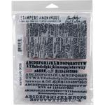 Newsprint & Type Tim Holtz Cling Stamps