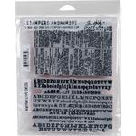 Newsprint & Type Tim Holtz Cling Stamps