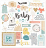 Boy Gold Glitter Accent Chipboard Stickers - Crate Paper