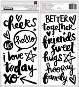 You + Me Black Foam Thicker Sayings - Better Together - Amy Tangerine
