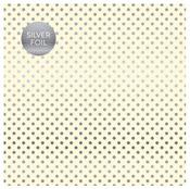 Cream Silver Foil Specialty Sheet - Carta Bella