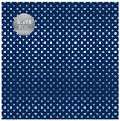 Navy Silver Foil Specialty Sheet - Carta Bella