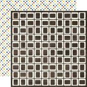 Retro Slides Paper - Pinstripes - Echo Park