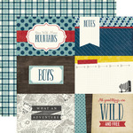4X6 Journaling Cards - Pinstripes - Echo Park