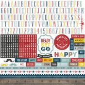 Pinstripes Alpha Sticker  - Echo Park