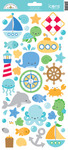 Anchors Aweigh Icon Sticker Sheet - Doodlebug