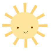 Sunshine Sweet Roll Mini Stickers - Doodlebug - PRE ORDER
