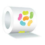 Jelly Beans Sweet Roll Mini Stickers - Doodlebug - PRE ORDER
