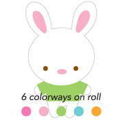 Bunnies Sweet Roll Mini Stickers - Doodlebug